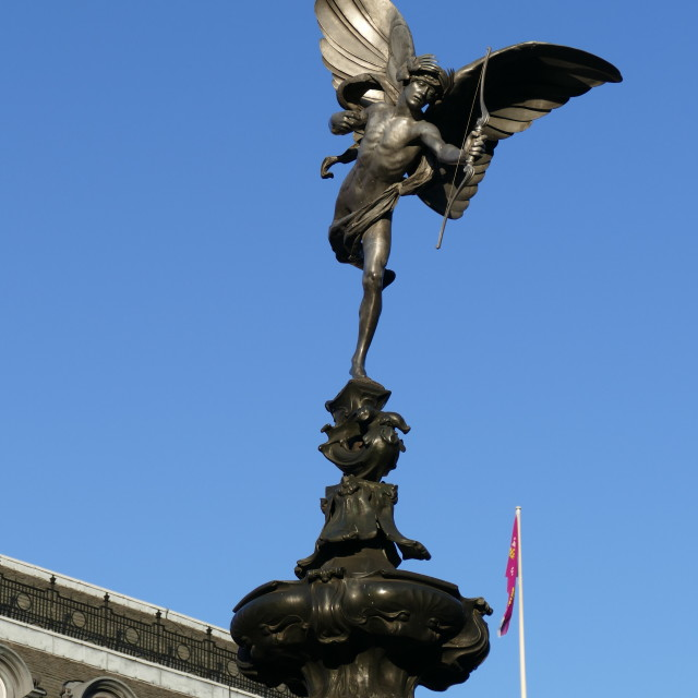 """""""Eros, Piccadilly Circus"""" stock image"""