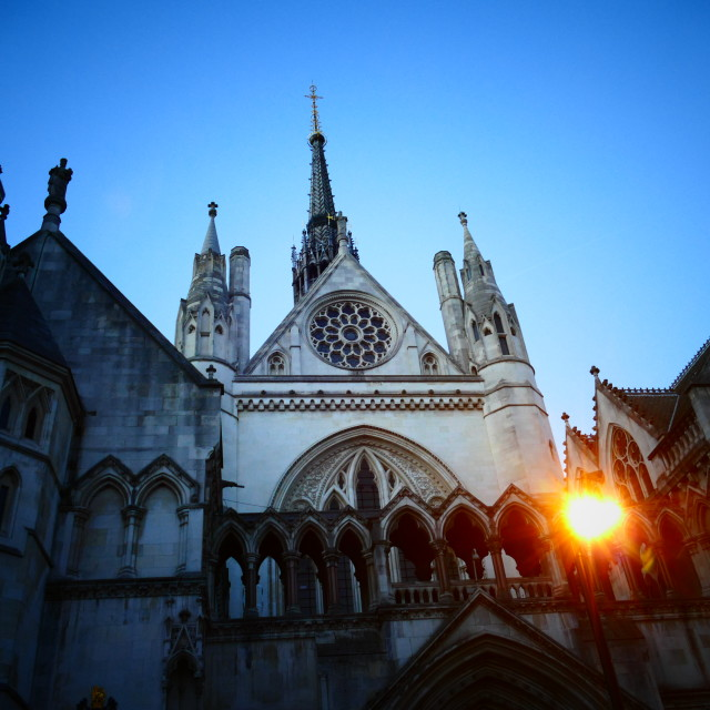 """""""Royal Courts of Justice"""" stock image"""