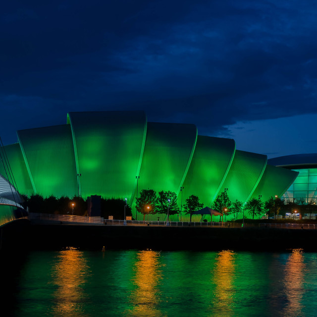 """""""Clyde Auditorium and the Scottish Hydro"""" stock image"""
