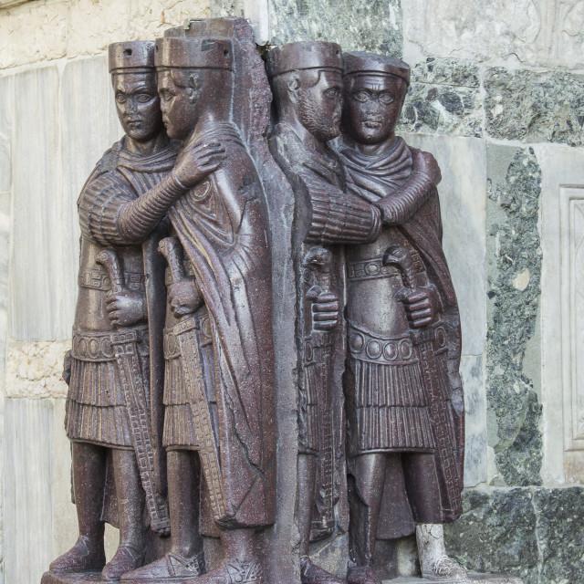 """Four Tetrarchs Statue"" stock image"