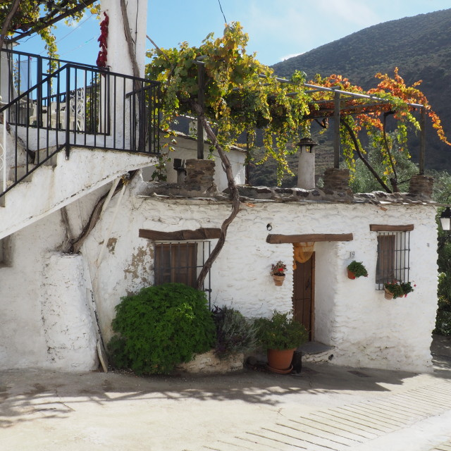 """Typical village house, La Alpujarras"" stock image"