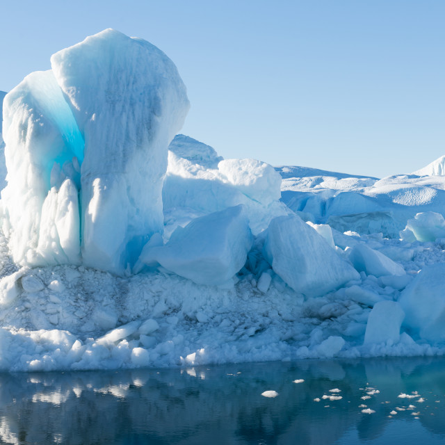 """Beautiful Icebergs"" stock image"