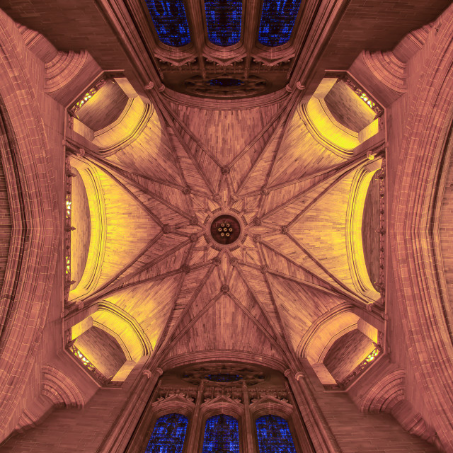 """Liverpool Cathedral ceiling"" stock image"