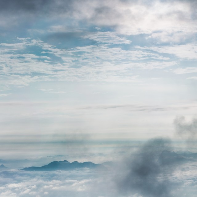 """Above cloud # 1"" stock image"