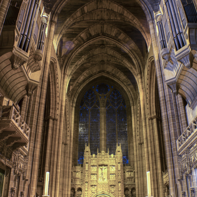 """Liverpool Cathedral from the Alter"" stock image"