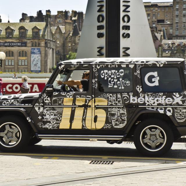 """Jeep at Gumball 3000 in Edinburgh"" stock image"