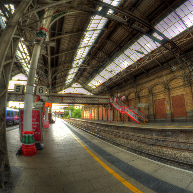 """Preston Train Station, England"" stock image"