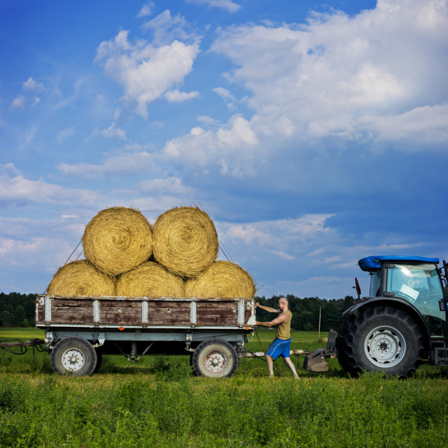 """Estonian Farmer"" stock image"