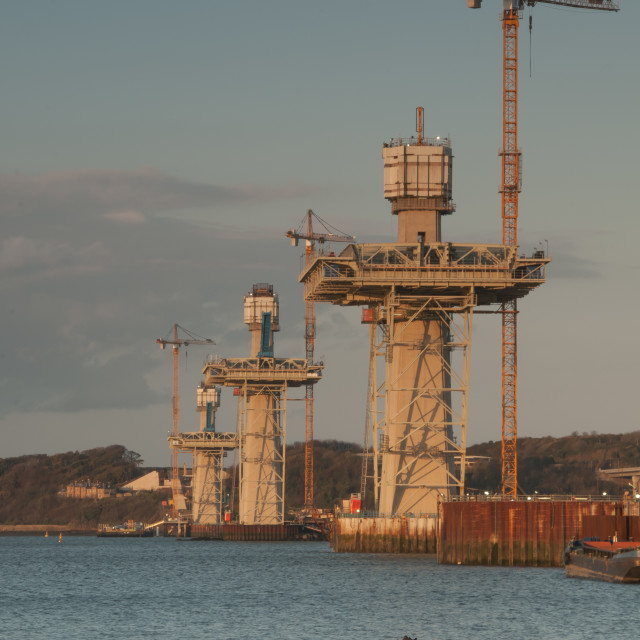 """Queensferry Crossing towers"" stock image"