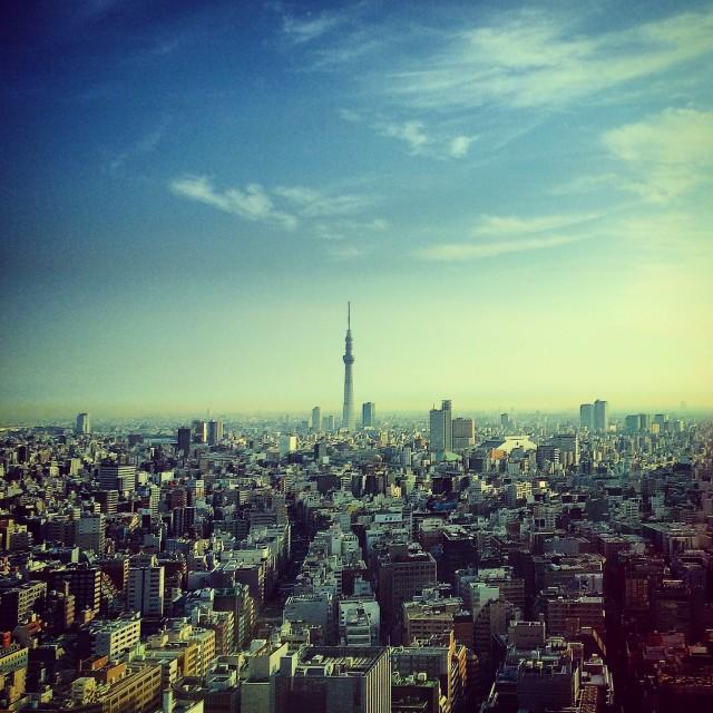 """""""Tokyo at dawn"""" stock image"""