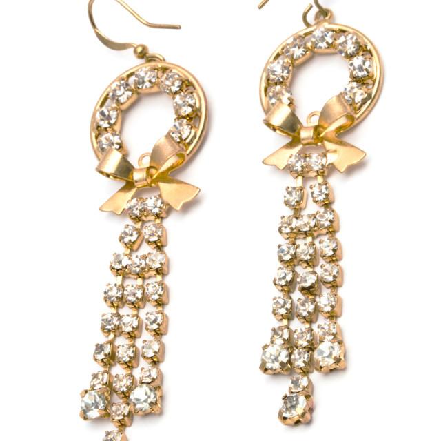 """Fashion Earrings"" stock image"