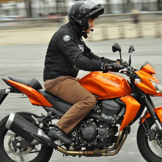 """""""Motorbike rider"""" stock image"""