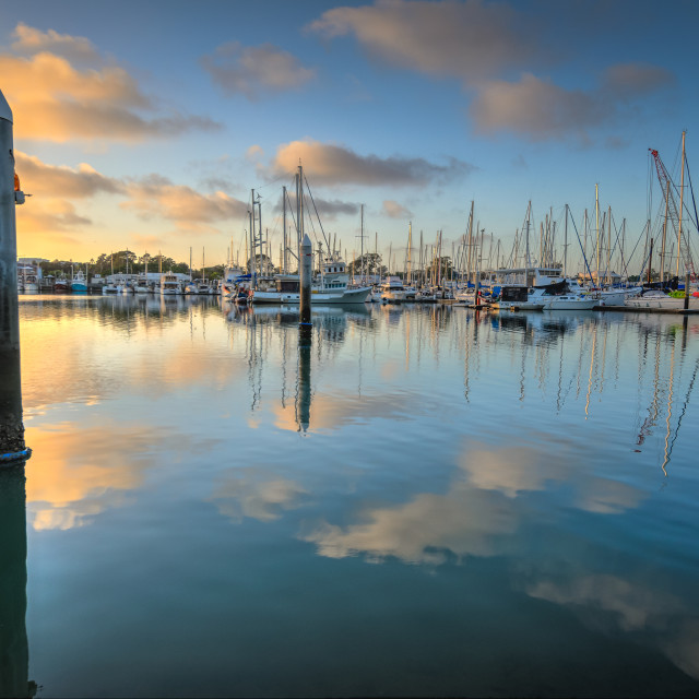 """Marina at Sunrise"" stock image"