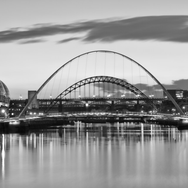 """Tyne Bridges at Sunset"" stock image"