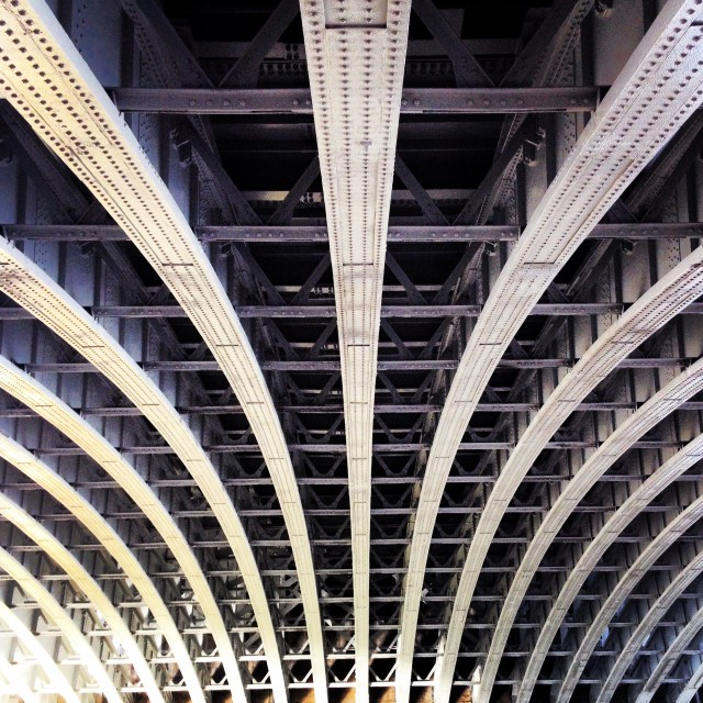 """""""under the bridge 1"""" stock image"""