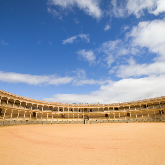 """Ronda Bullfighting Arena in Spain"" stock image"