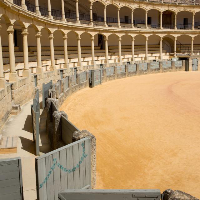 """Bullfighting Arena in Ronda"" stock image"