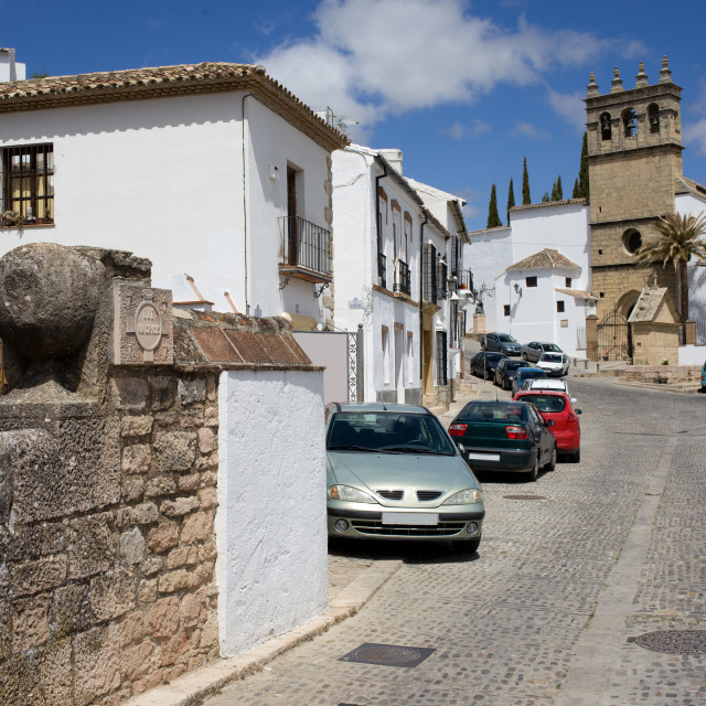 """""""Calle Real in Ronda"""" stock image"""