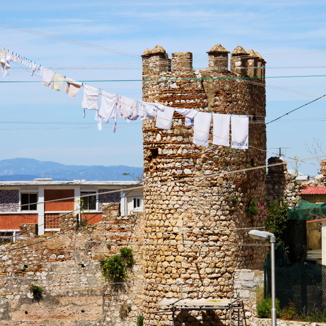 """Moorish Fortification in Gibraltar"" stock image"
