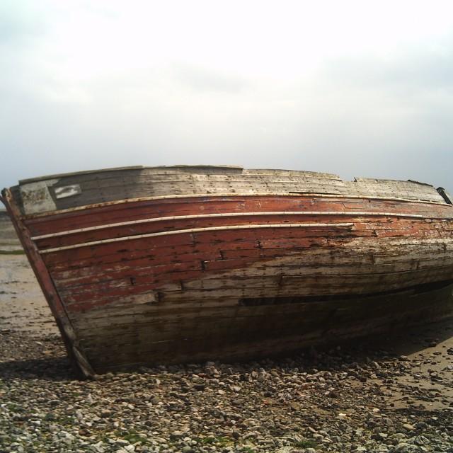 """Rotting Boat"" stock image"