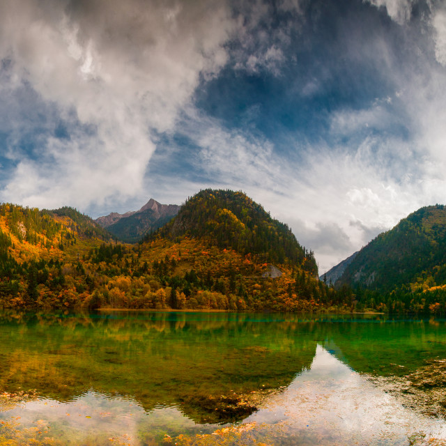 """Jiuzhaigou Lake Panorama"" stock image"