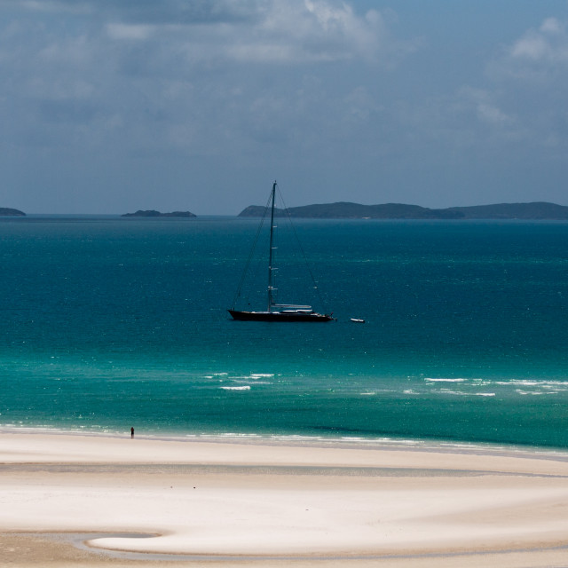 """Whitsundays Island dream beach, Australia"" stock image"