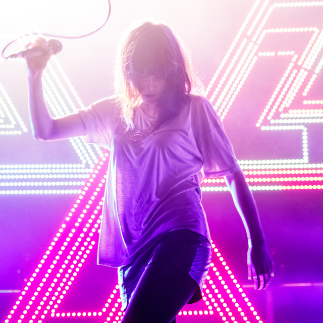 """CHVRCHES Live"" stock image"