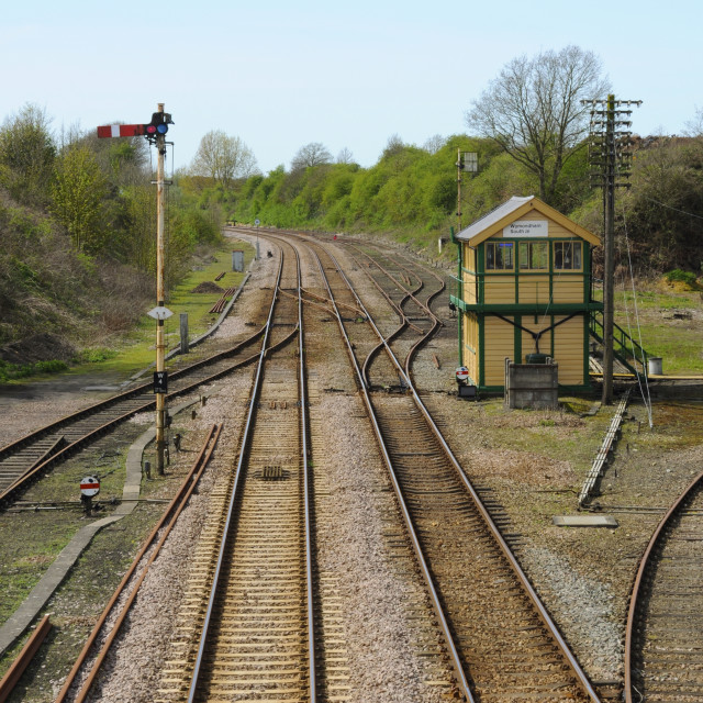 """""""Traditional Railway Infrastructure"""" stock image"""