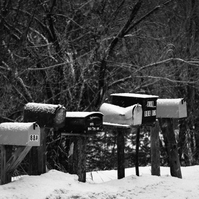 """Mailboxes"" stock image"