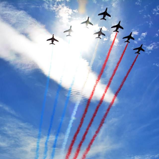 """""""""""Patrouille de France"""""""" stock image"""