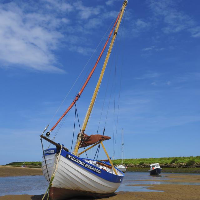 """Low Tide, Norfolk"" stock image"