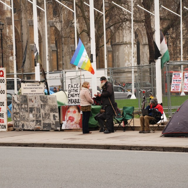 """Iraq war protest, London"" stock image"