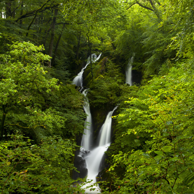 """Waterfall in Lake District"" stock image"
