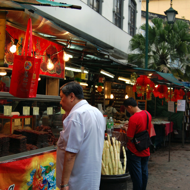 """Hawker stall in Chinatown Malaysia"" stock image"