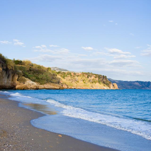 """Burriana Beach in Nerja"" stock image"