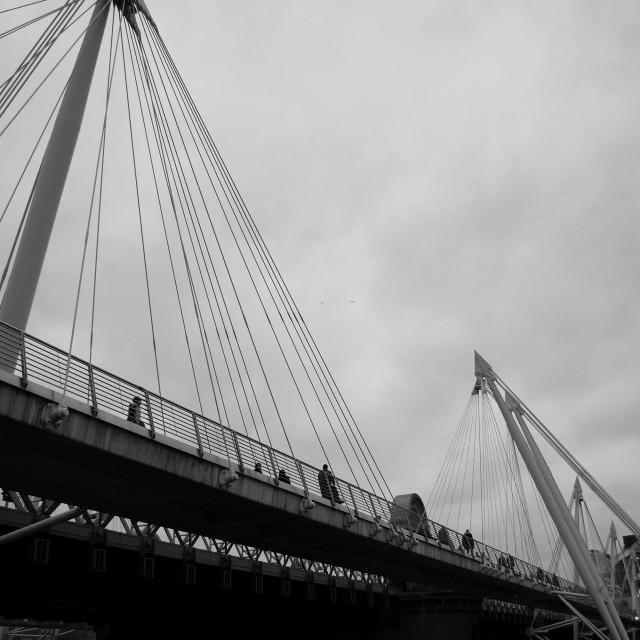 """""""Golden Jubilee Bridge"""" stock image"""