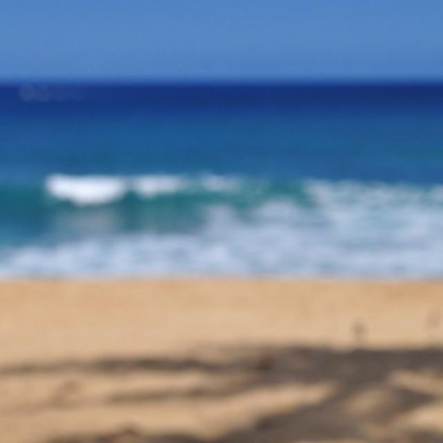 """""""Waves Crashing North Shore Hawaii Bokeh"""" stock image"""