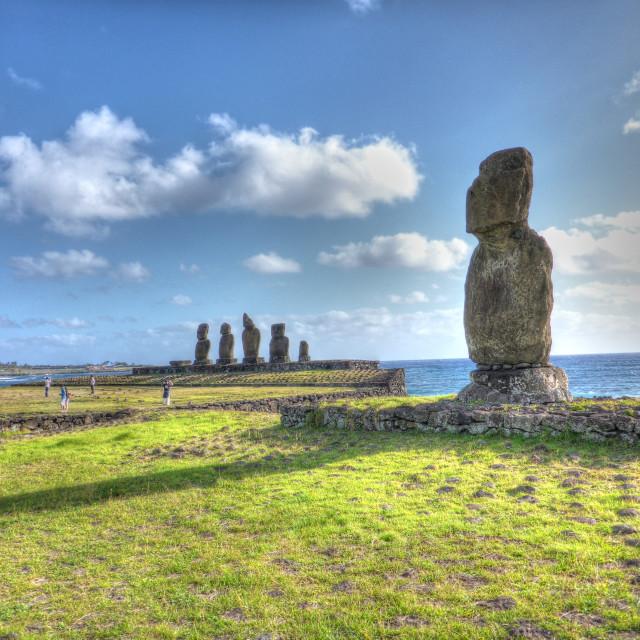 """""""Tahai Moai Easter Island"""" stock image"""