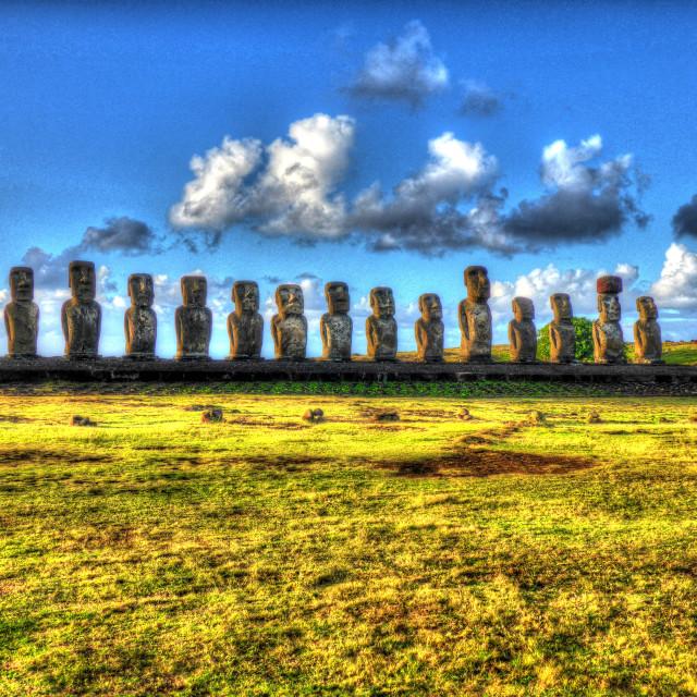 """Ahu Tongariki Easter Island"" stock image"