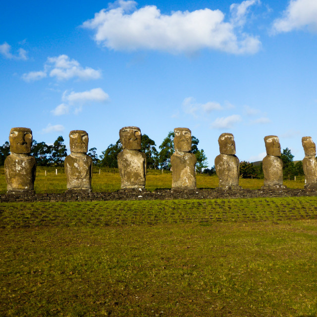 """Ahu Akivi Easter Island"" stock image"