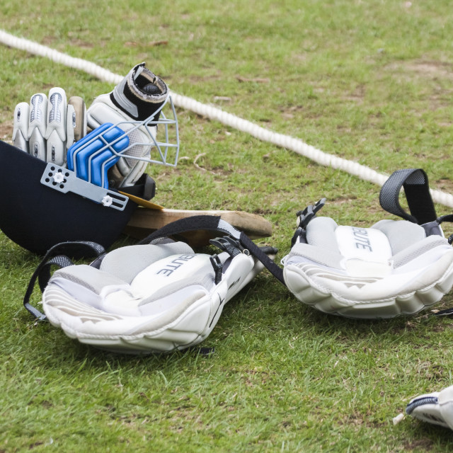 """Cricket sports equipment"" stock image"
