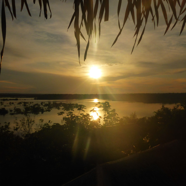 """Rio Urubu Sunset"" stock image"