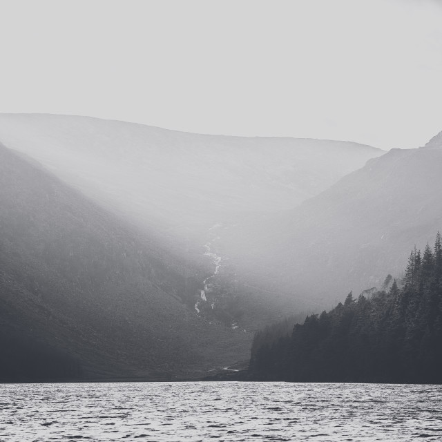 """Lake in Glendalough"" stock image"