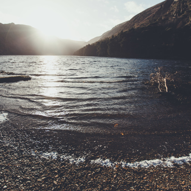 """Glendalough waves"" stock image"