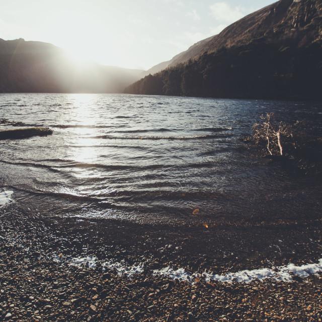 """Glendalough waves"" stock image"