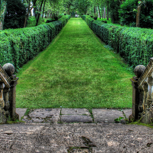 """HDR garden pathway"" stock image"