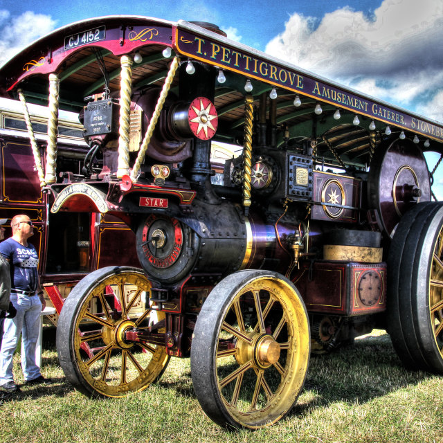 """Classic steam engine"" stock image"