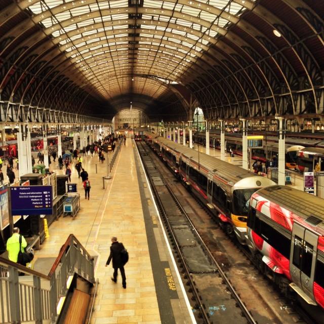 """Paddington station, London"" stock image"