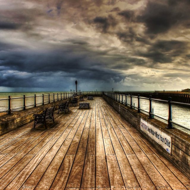 """Pier HDR"" stock image"