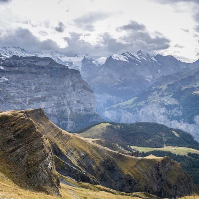 """Mürren, Switzerland"" stock image"
